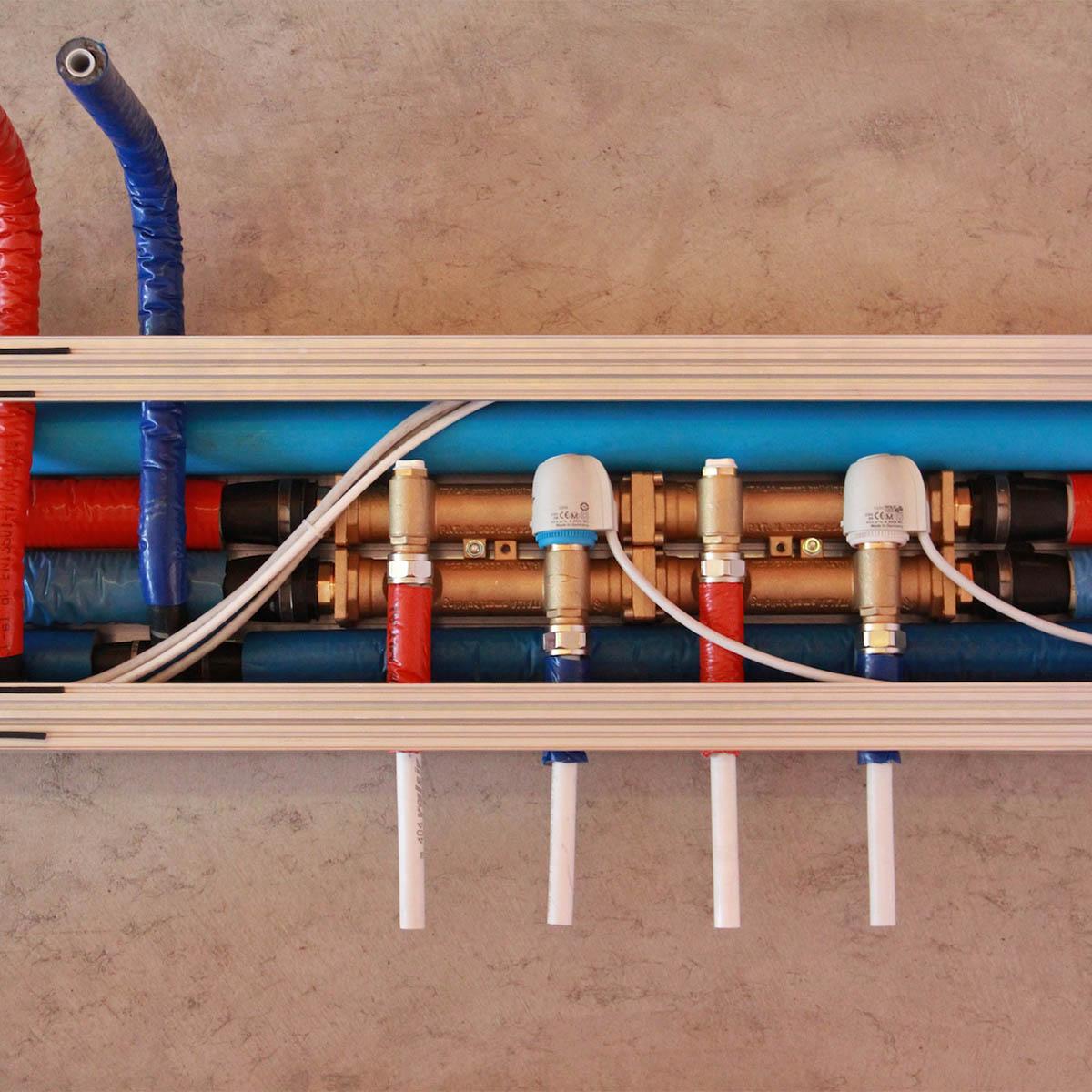 Eliminazione quadri elettrici e collettori idraulici
